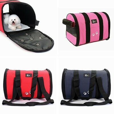 Waterproof Pet Dog Cat Puppy Portable Travel Carrier Tote Cage Bag Crates Kennel