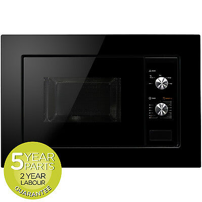MyAppliances REF28615 Built In Black Microwave 20 Litre With Mechanical Timer