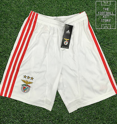 Benfica Home Shorts - Official Adidas SL Benfica Football Boys Shorts -All Sizes