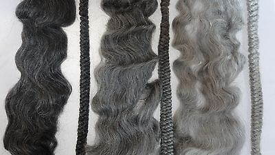 30g (approx.1oz)  Grey mohair-you choose shade and style