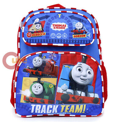 """Thomas Tank Engine Friends 12"""" School Backpack Lunch Bag 2pc Set : Thomas Face"""