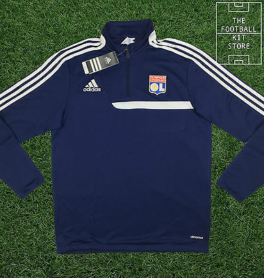 Lyon Training Midlayer - Official Adidas 1/4 Zip Training Top - Mens - All Sizes