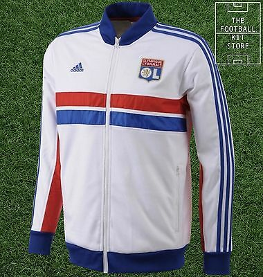 Lyon Anthem Jacket - Official Adidas Olympique Lyonnais Tracksuit Top -All Sizes