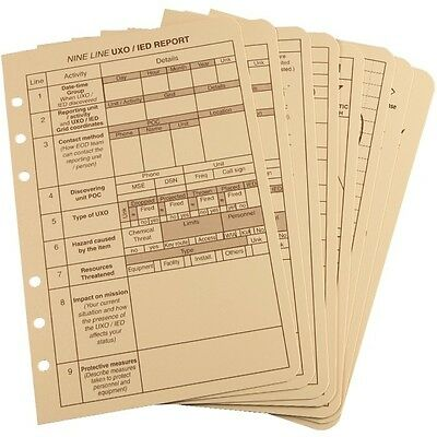 Rite in the Rain 9200T-R All-Weather Tactical Reference Cards, Tan