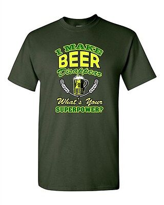 2d29dc75d I Make Beer Disappear What's Your Superpower? Funny Drunk DT Adult T-Shirt  Tee