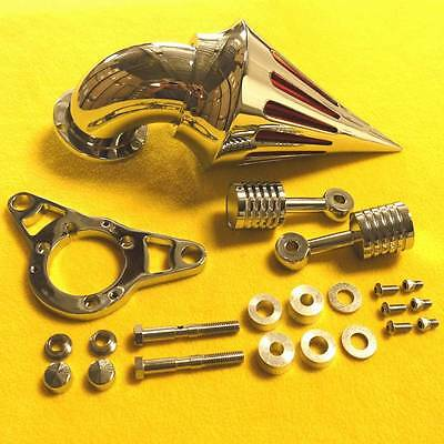Harley Davidson Softail Motorcycle Chrome Spike Air Cleaner Intake Filter Kit