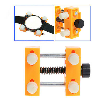 1x Adjustable Watch Back Case Cover Remover Opener Holder Watchmaker Repair Tool