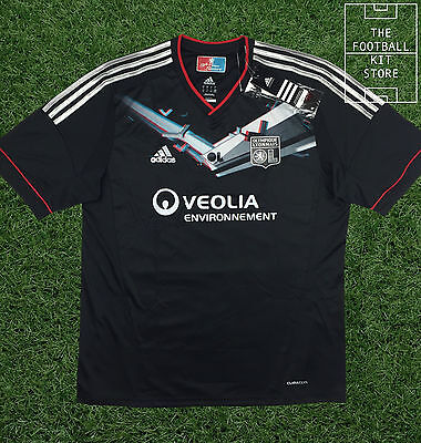Lyon Away Shirt - Official Adidas Special Edition 3D Shirt with Glasses -  XL