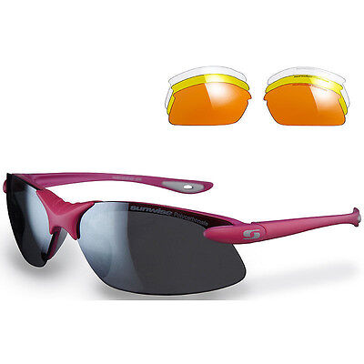 Sunwise Windrush Pink Sunglasses With 4 Interchangeable Lenses