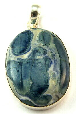 Sterling Silver Blue Gemstone Pendant Jewellery PEND482