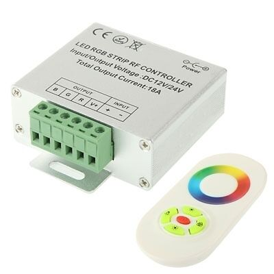 I-TECH RGB LED Controller with RF Touch Remote Controller for LED Strip Light,