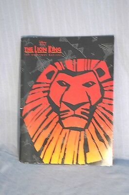 2000 The Lion King Musical Los Angeles LA Opening Program Booklet w/ Cast Insert