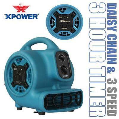 XPOWER P-230AT 800 CFM Mini Air Mover Portable Carpet Dryer Floor Fan Blower