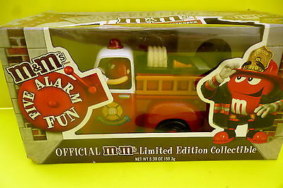 M&M´s M&M FIRE TRUCK Five Alarm RED and YELLOW EDITION Dispenser RAR OVP