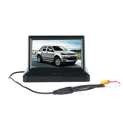 5 Inch TFT LCD Foldable HD Car Rear View Monitor for Backup Camera DVD VCR