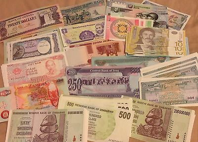 18 Pcs Different Countries Banknotes World Paper Money Set/Lot - UNC From Bundle