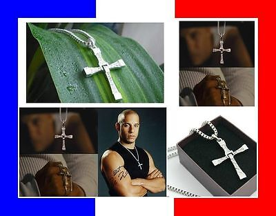 TOP ►COLLIER PENDENTIF CROIX  FAST AND FURIOUS 6 Vin Diesel Dominic Toretto