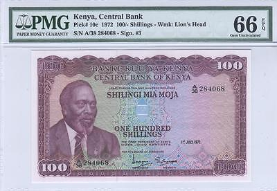 Kenya, 1000 Shillings, 1972, P10c, PMG Gem Uncirculated 66 EPQ