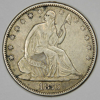 1875 Seated Liberty Half - Nice Xf Priced Right!