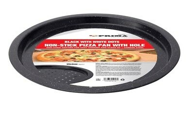 Large Non Stick Vented Pizza Pan Oven Baking Tray 35cm x 2cm Carbon Steel