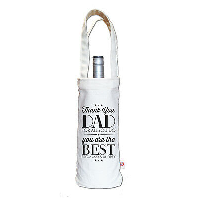 Thank You Dad Personalised Father's Day Dad Gift Wine Bag