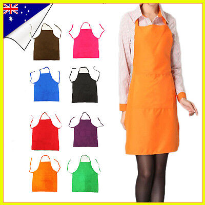 Apron Washable Cotton Poly Pocket Butcher Waiter Chef Kitchen Cooking Unisex