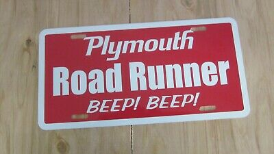 Plymouth ROAD RUNNER license plate tag green 1968 1969 1970 1971 1972 1973 1974