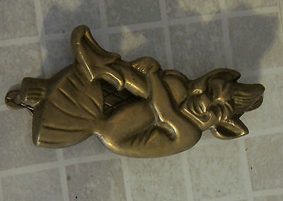 VINTAGE brass door knocker ID 666555