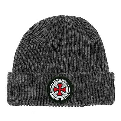 Independent BTG PATCH LONG SHOREMAN Skateboard Beanie HEATHER GREY