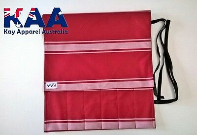 Butchers Chefs Red/White Knife Roll Wrap **MADE IN KINGAROY QLD**