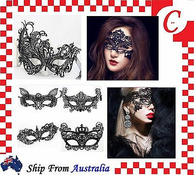 Ladies Sexy Lace Eye Mask Masquerade Party Fancy Dress Costume Party Ball Black