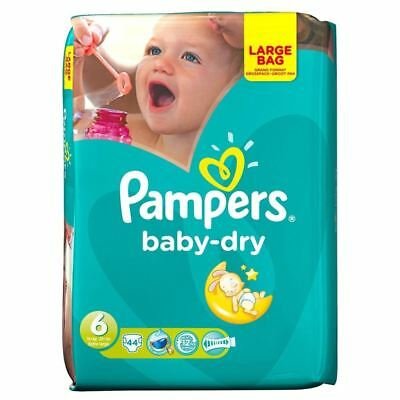 PampersBaby Dry Taille 6 Extra Large 16 Kg + (44)