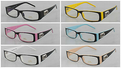 New DG Clear Lens Rectangular Frames Glasses Womens Mens Fashion Optical RX Nerd