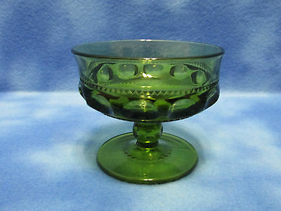 Beautiful Vintage Green Glass Dessert Dish