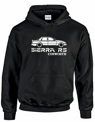 Classic Ford Sierra RS Cosworth Retro Silhouette Hoodie All Sizes Present