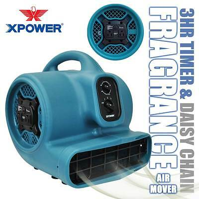 XPOWER P-450AT 1/3 HP Freshen Aire Scented Air Mover Floor Fan Carpet Dryer