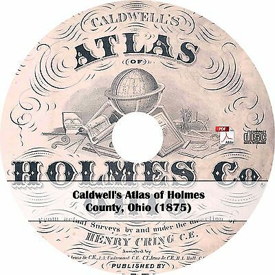 1875 Atlas of Holmes County, Ohio - Plat Maps Book on CD
