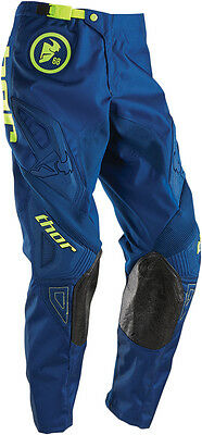 THOR MX Motocross 2016 Kids PHASE Pants (GASKET Navy/Lime) Youth Sizes