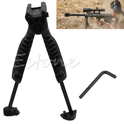 Tactical Hunting Swivel Foldable Bipod Foregrip 20mm Picatinny Rail For Rifle