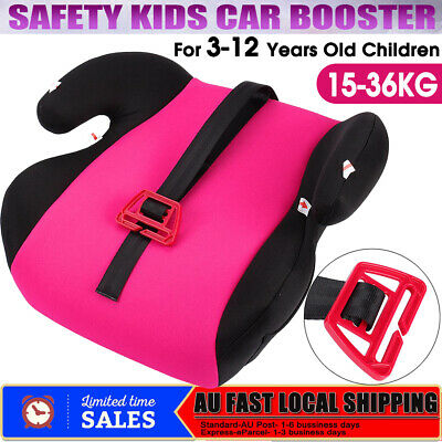 Safe Soft Sturdy Baby Kids Children Car Booster Seat Pink Fit 3 To 12 Years Old