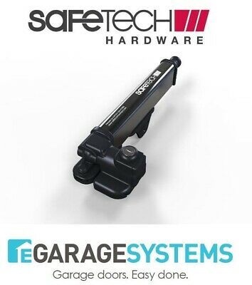 Safetech Magnetic Pedestrian Gate Latch Black SL-25 Rust Proof, UV Stabilized