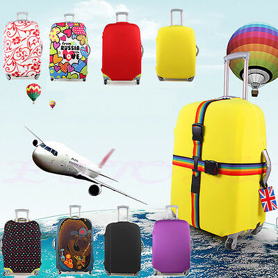 """Luggage Protector Elastic Suitcase Cover Bags Dustproof Anti scratch 20/24/28"""""""