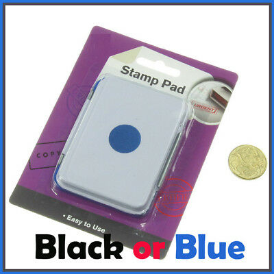 Stamp Pad Stamps Craft Ink Pad for Paper Wood Fabric Black Colours  100x70mm