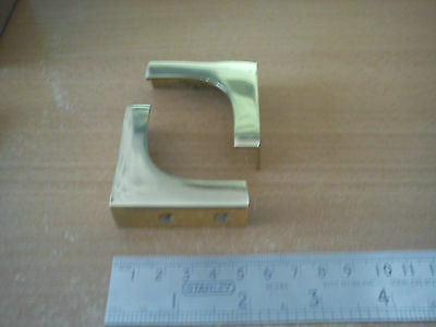 """8 x Polished Solid Brass Military Chest Corners Size 2"""" x 2"""""""
