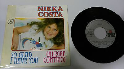 "Nikka Costa So Glad I Have You Single 7"" Vinyl Spanish Edition Mega Rare!!!"