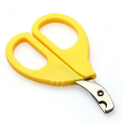 Durable 8.5cm Pet Nail Toe Claw Clippers Trimmer Groomer Scissors Cutter Yellow