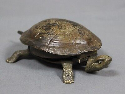 19th Century Novelty Tortoise Desk Bell