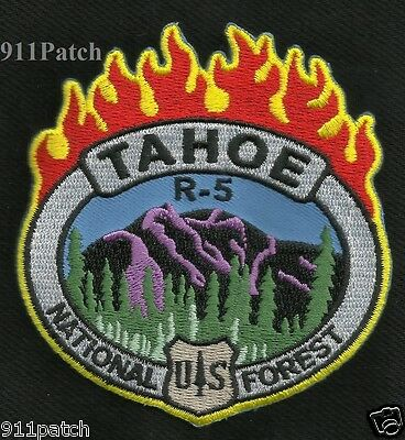 TAHOE, CA - US NATIONAL FOREST R-5 FIREFIGHTER Patch FIRE DEPARTMENT