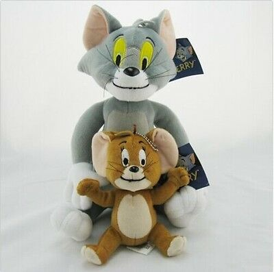 New 2PCS Tom and Jerry Plush Dolls Soft Cat and Mouse Cartoon Toys For Kids