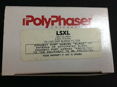 NEW PolyPhaser LSXL In-Line EMP Surge Filter